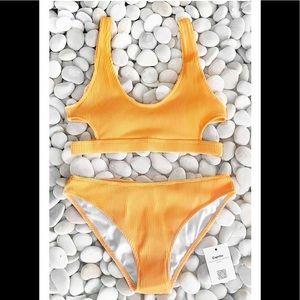 2084c73b8a1 Cupshe Swim - Cupshe Feather Yarn Solid Bikini Set
